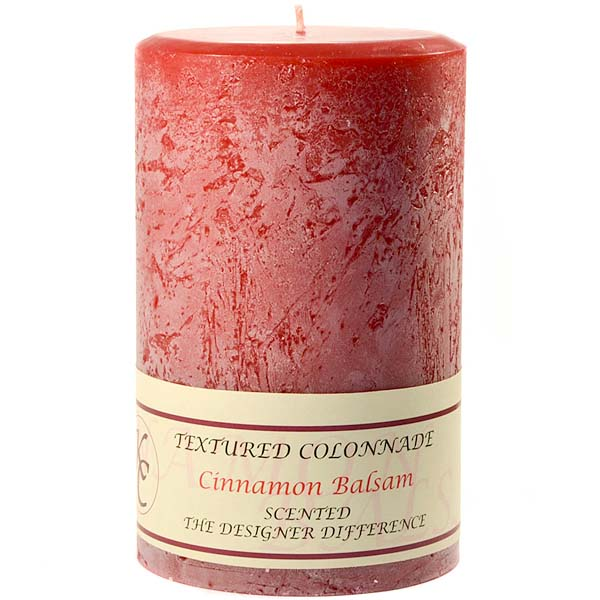Textured 4x6 Cinnamon Balsam Pillar Candles