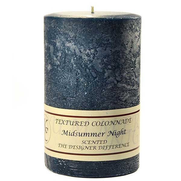 Textured 4x6 Midsummer Night Pillar Candles
