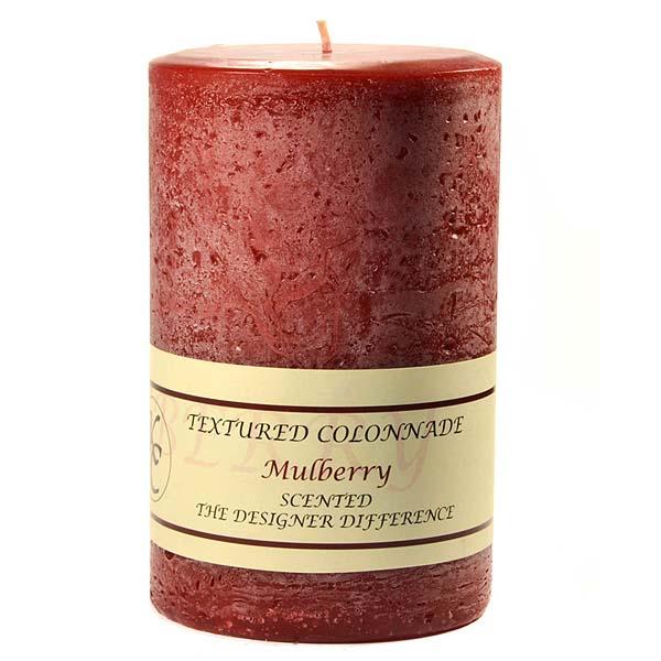 Textured 4x6 Mulberry Pillar Candles