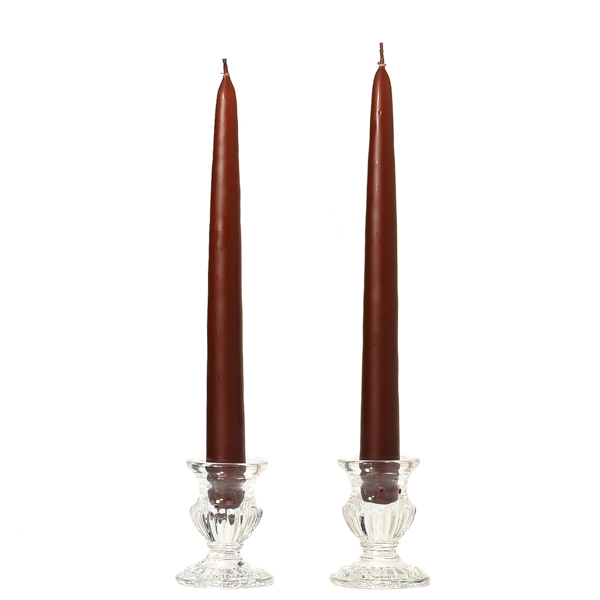 Unscented 8 Inch Brown Tapers Pair