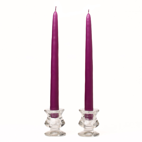 Unscented 10 Inch Lilac Tapers