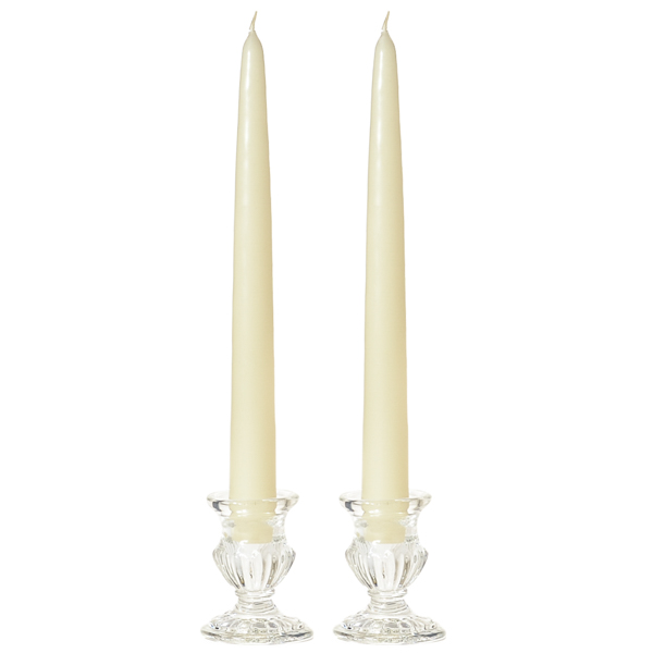 Unscented 15 Inch Ivory Tapers Pair