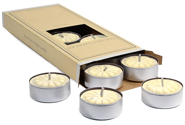 Suntan Lotion Tea Lights