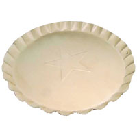 Scalloped Edge Tin Plates White 7 Inch