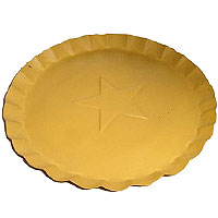 Scalloped Edge Tin Plates Yellow 7 Inch