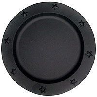 Charger Plates Tin 12 Inch Black