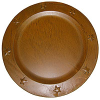 Charger Plates Tin 12 Inch Brown