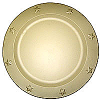 Charger Plates Tin 12 Inch Ivory
