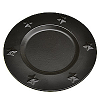 Charger Plates Tin 6 Inch Black