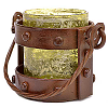 Mission Style Votive Lantern Green