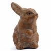 Weathered Ceramic Brown Bunny Small