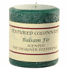 Textured 3x3 Balsam Fir Pillar Candles