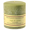 Textured 4x4 Sage and Citrus Pillar Candles