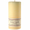Textured 4x9 French Vanilla Pillar Candles