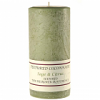 Textured 4x9 Sage and Citrus Pillar Candles