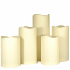 Outdoor LED Pillar Candles 5 Piece Set