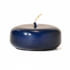 Navy Floating Candles Large Disk