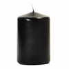3x4 Black Pillar Candles Unscented