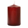 3x4 Burgundy Pillar Candles Unscented