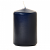 3x4 Navy Pillar Candles Unscented