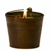 Citronella Bucket Outdoor Candle Dark Brown 22 oz.