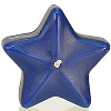 Star Floating Candles Medium Blue