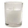 White Votive in Round Cup