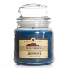 16 oz Blue Christmas Jar Candles