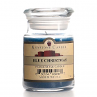 5 oz Blue Christmas Jar Candles