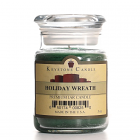 5 oz Holiday Wreath Jar Candles