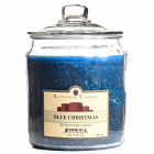 64 oz Blue Christmas Jar Candles