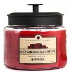 70 oz Montana Jar Candles Strawberries and Cream