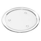 Round 5 Inch Glass Candle Plate