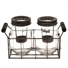 Tealight Holder Mason Jar Set