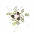Birch Leaf Pine Cone Candle Ring 1.5 Inch