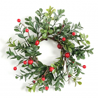 Boxwood Berry Candle Ring 3 Inch