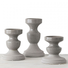 Gray Candle Holder Set of 3