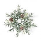 Frosted Arborvitae Candle Ring 1 Inch