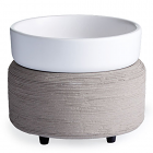 Candle Warmer and Dish Gray Texture