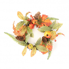 Foliage Mixed Fruit Candle Ring 6.5 Inch