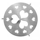 Silver Hearts Large Jar Capper