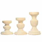 Weathered Cream Candle Holder Set of 3