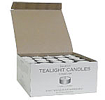 Unscented Tea Lights 125 Pack