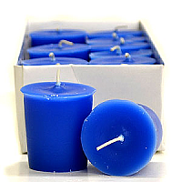 Blue Christmas Votive Candles