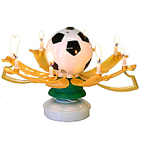 Musical Birthday Candles Soccer Ball