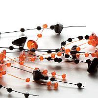 Beaded Garland Black and Orange