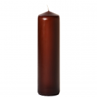 3x12 Brown Pillar Candles Unscented
