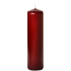 3x11 Burgundy Pillar Candles Unscented