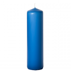 3x12 Colonial Blue Pillar Candles Unscented