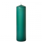 3x12 Forest Green Pillar Candles Unscented